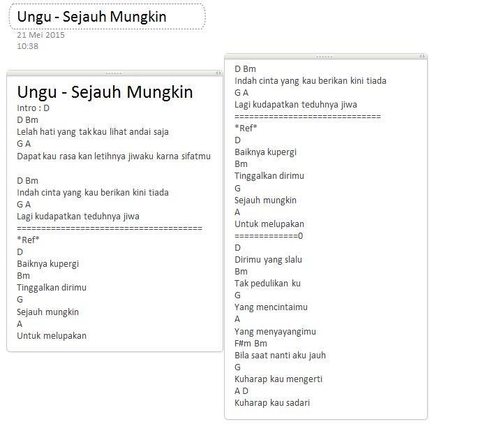 Chord Lirik Ungu Setengah Gila: Kumpulan Lagu Indonesia + Cord Gitar