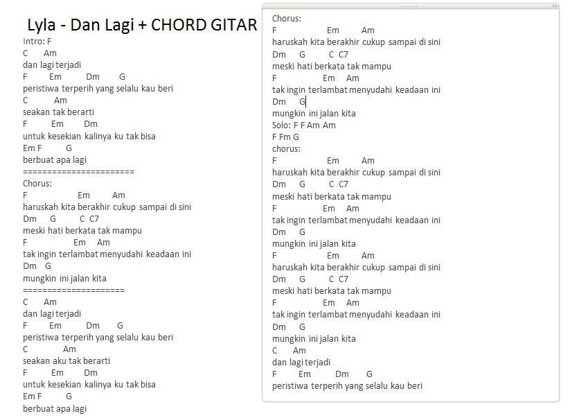 41 Download Kumpulan Chord Lagu Indonesia Termudah Dan Paling Mudah